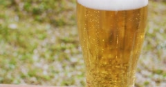 Refreshing ice cold beer or lager Stock Footage