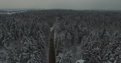Snow country road Stock Footage