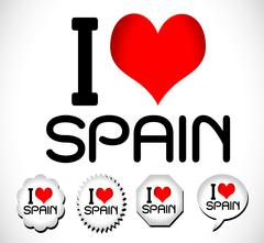 I Love ,italy , spain ,australia ,argentina Piirros