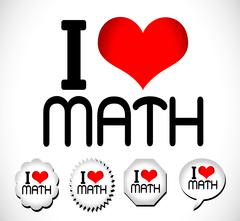 I Love Math Stock Illustration