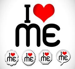i love me i love my life - stock illustration