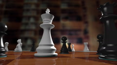 Chess king falling - stock footage