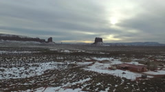 Monument Valley In Winter On Navajo Nation Stock Footage