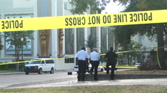 Police Officer shooting investigation Stock Footage