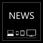 News on all mobile devices - laptop, smart phone, tablet, TV Stock Illustration
