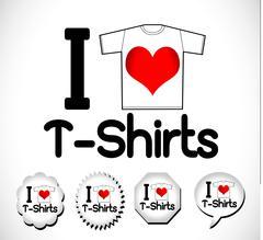 Apparel shirts template t-shirt templates - stock illustration