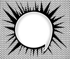 Speech Bubble Pop Art - stock illustration