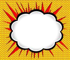 Speech Bubble Pop Art Stock Illustration