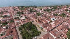 Typical colonial town, Barichara - stock footage