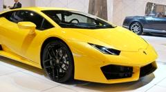 Lamborghini Huracan front view Stock Footage