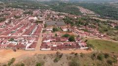 Barichara aerial shot Stock Footage