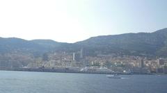 French Riviera boat ride, Monaco Stock Footage
