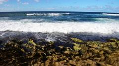Waves crash ashore, Hawaii seascape - stock footage