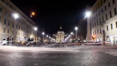Traffic People Rome St. Peter Stock Footage
