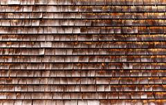 Cape Cod wooden wall detail Massachusetts - stock photo
