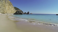 Beauty seascape aerial, Portugal - stock footage