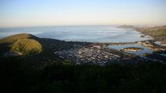 Scenic Hawaii aerial pan Stock Footage