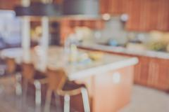 Blurred Modern Kitchen with Retro Instagram Style Filter Kuvituskuvat
