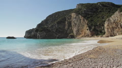 Secluded beach in Portugal - stock footage