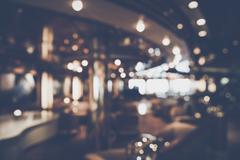 Blurred Restaurant Interior with Instagram Style Filter Kuvituskuvat