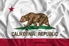 Waving California State Flag Stock Photos