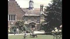 Vintage 16mm film, 1955, UK, Cambridge Univeristy Stock Footage