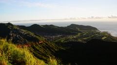 Hawaii aerial, Koko Head Stock Footage