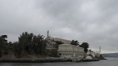 Alcatraz Island, cloudy overcast weather Stock Footage