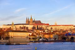 Prague St. Vitus Cathedral and Mala Strana, Czech Republic Stock Photos