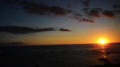 Scenic Hawaii seascape sunset - stock footage