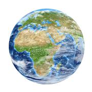 Planet Earth from space showing Africa & Europe. World isolated on white back Kuvituskuvat