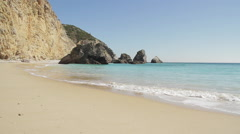 Secluded beach in Portugal Stock Footage