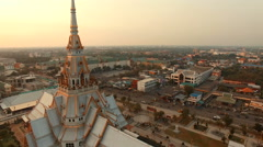 wat sothorn temple chacherngsao eastern thailand - stock footage