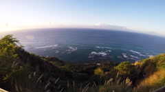 Scenic seascape from Diamond Head - stock footage