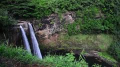 Scenic Hawaiian waterfall Stock Footage