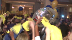 John Bel-Edwards (D) Governor campaign victory party - stock footage
