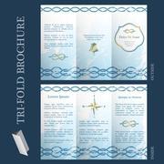 Tri-fold brochure template Stock Illustration