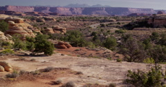 SUV traveling on the road, Canyonlands National Park - stock footage