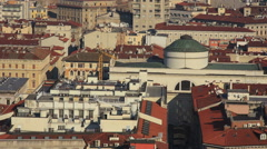 Trieste roofs of St. Giusto hill Stock Footage