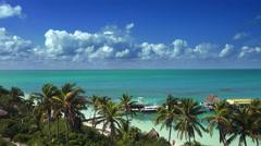 Exotica island caribbean sea Stock Footage