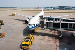 Air China Plane on Ariport Tarmac Stock Photos