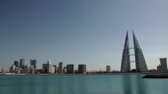 Manama Skyline Pan Stock Footage