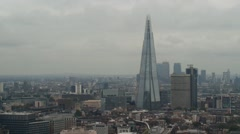 The Shard Building in London on a Cloudy Day Stock Footage