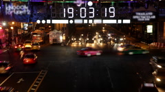 New year countdown clock in city Stock Footage