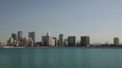 Manama Skyline during day Stock Footage
