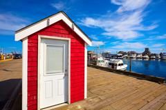 Cape Cod Provincetown port Massachusetts US - stock photo