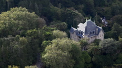 Gothic mansion, large house in the forest, Sintra, Portugal Stock Footage