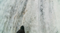 Walking POV Looking Down at feet of a Man Stock Footage