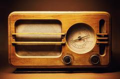 Old Wooden Radio Design - stock photo
