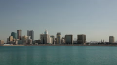 Manama Skyline during day zoom in Stock Footage